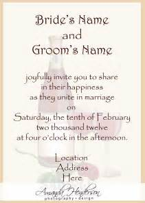 how to make your own wedding invitations how to word wedding invitations theruntime