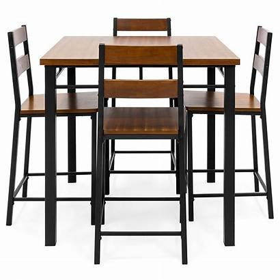 Counter Height Dining Oak Piece Chairs Table
