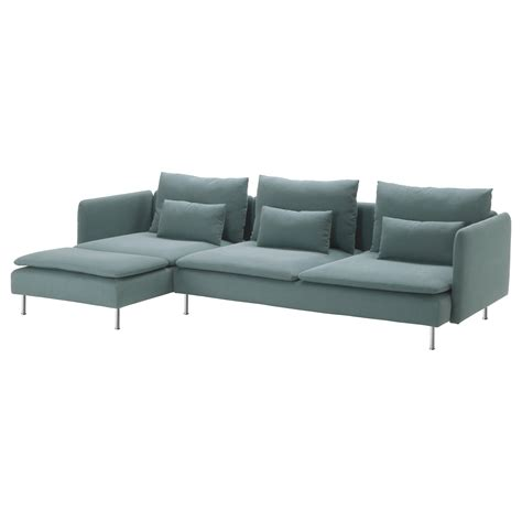 söderhamn three seat sofa and chaise longue finnsta
