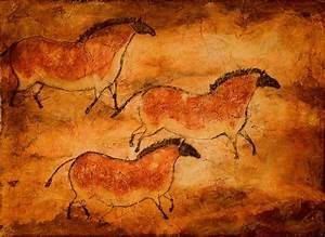 Cave Art Series--Three Ponies 8x10 print of prehistoric ...