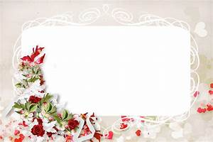 Transparent PNG Photo Frame with Flower and Roses ...