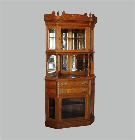 oak corner curio cabinet bargain john 39 s antiques blog archive victorian two piece