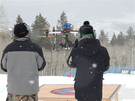 aerial drone coverage debuts at x aspen espn front row