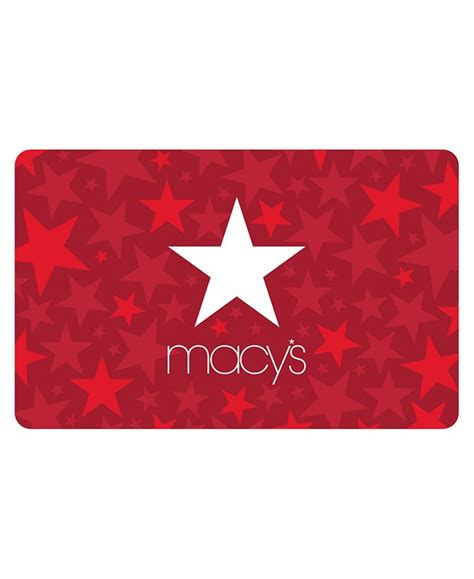 You can get your choice of physical or email gift card, so you can pick between presentation or convenience as well as to your own individual budget. Macy's Macy's Star E-Gift Card & Reviews - Gift Cards - Macy's