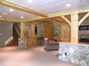 inspiring log cabin house plans with basement photo log cabin basement remodel