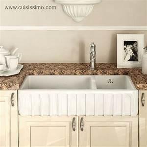 Evier Cuisine Ceramique : evier cuisine ceramique blanc a poser ~ Premium-room.com Idées de Décoration