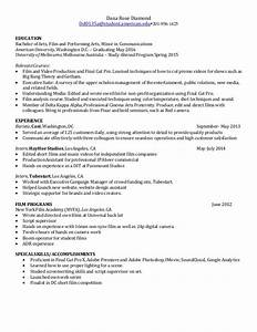 film production resume With film production resume