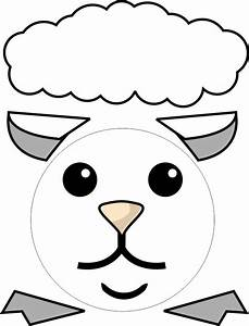 paper plate lamb With cardboard sheep template