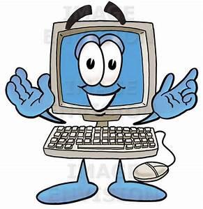 Person At Computer Cartoon - Clipart Bay