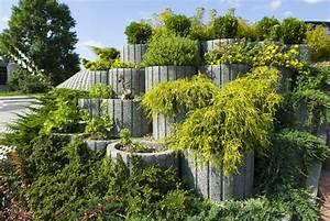Gartengestaltung Mit Beton : pflanzsteine setzen und bepflanzen gartengestaltung ideen tipps ~ Markanthonyermac.com Haus und Dekorationen