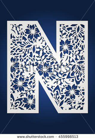 Patterned Panel Cutout Swimdress floral laser cut monogram initial letter n with