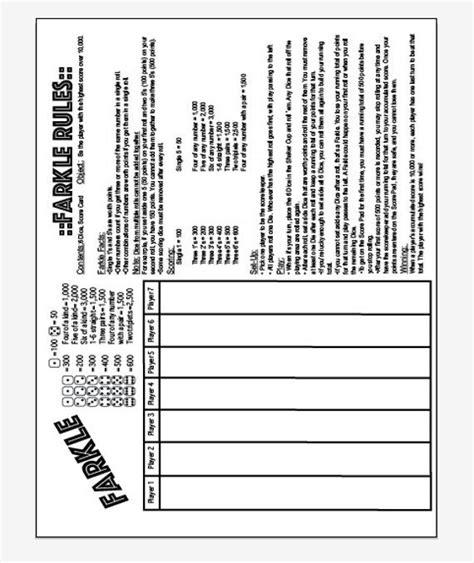 farkle  farkle rules  page