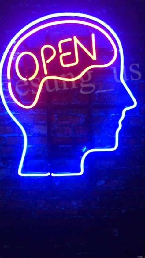 "New Open Mind Neon Sign 20""x16"" Ebay"