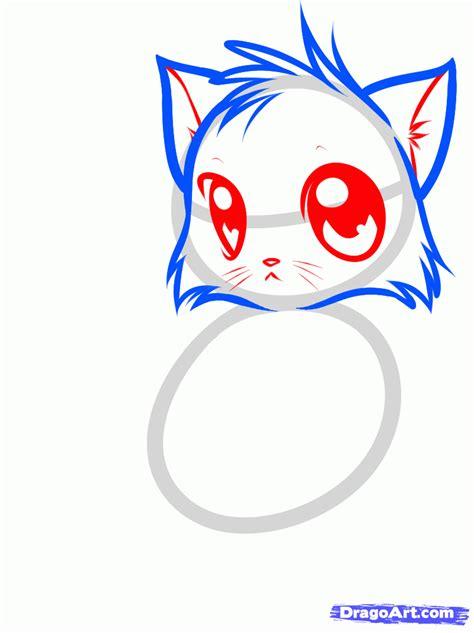 draw  cute anime cat step  step anime animals