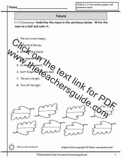 Nouns Worksheet Worksheets Sentences Identify Writing English