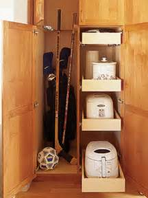 broom closet cabinet storage room with build in