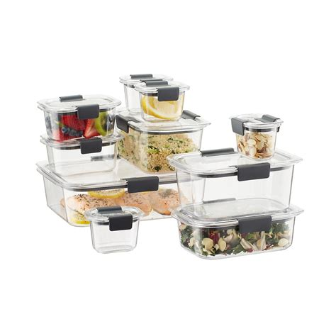 rubbermaid brilliance food storage containers set