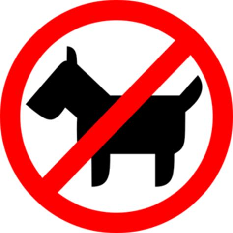 No Clipart Sign No Animals Clip At Clker Vector Clip