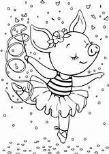 Ballerina Coloring Tulamama sketch template