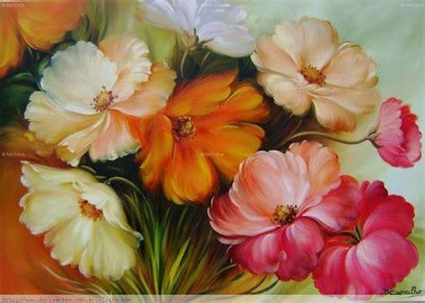 cuadros de flores al oleo abstractos imagui