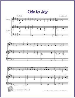 ode to joy beethoven free violin sheet music digital