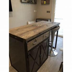 Meuble Ilot Cuisine : meuble ilot cuisine plan cuisine avec ilot central delphine ertzscheid ~ Teatrodelosmanantiales.com Idées de Décoration