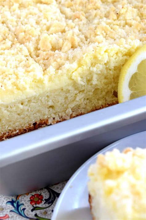 I love the light lemon flavor, the sweet, moist but if you are not able to find greek yogurt cream cheese, feel free to use regular cream cheese. Lemon Cream Cheese Coffee Cake - Lord Byron's Kitchen