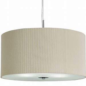 Searchlight cream drum light pendant with frosted