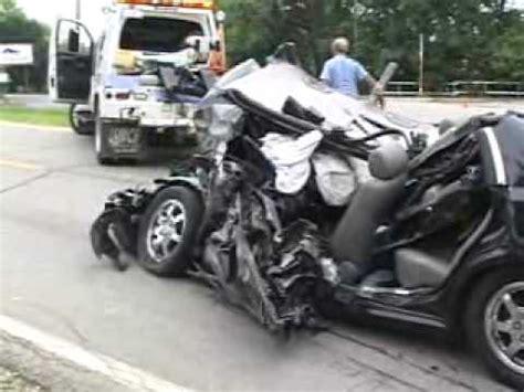 semi truck  car head  accident jolietil youtube