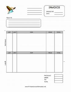 Bricklayer invoice template for Masonry invoice template