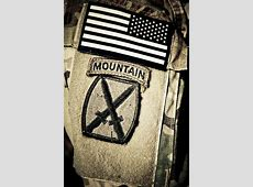10th Mountain Division Deployment Patch United States