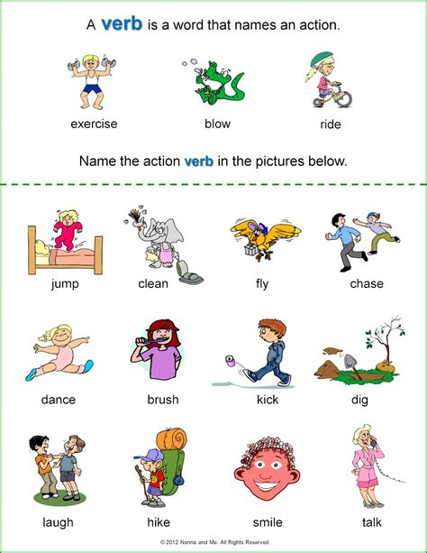 verb sheet free coloring pages of verbs