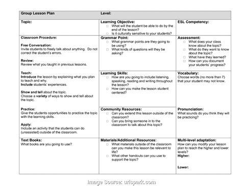 esl lesson plan template doc lesson plan template 5175212404571 english lesson plan template