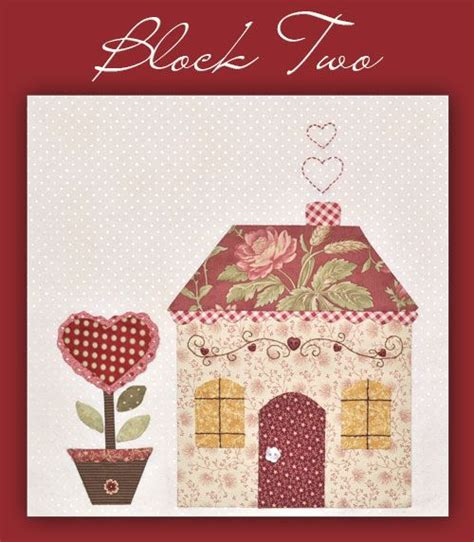 shabby fabrics free bom cute house patterns and fabrics on pinterest