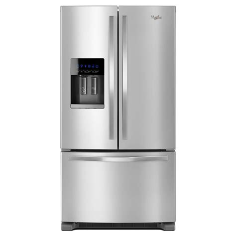Shop Whirlpool 247cu Ft French Door Refrigerator With