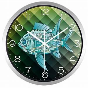 Horloge Murale Industrielle : bande dessin e industrielle machine poissons horloge murale deco 39 clock ~ Teatrodelosmanantiales.com Idées de Décoration