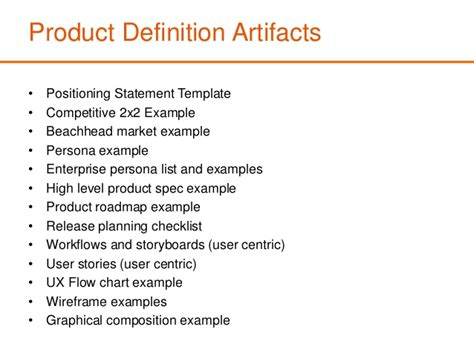 Product definition templates