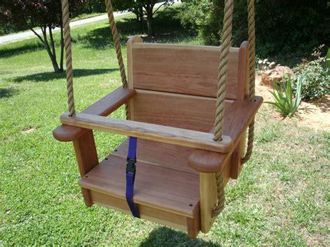 kid swing wood tree swings cherry toddler seat