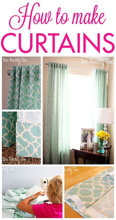 Make Your Own Living Room Curtains by How To Make Curtains Diy Two Twenty One