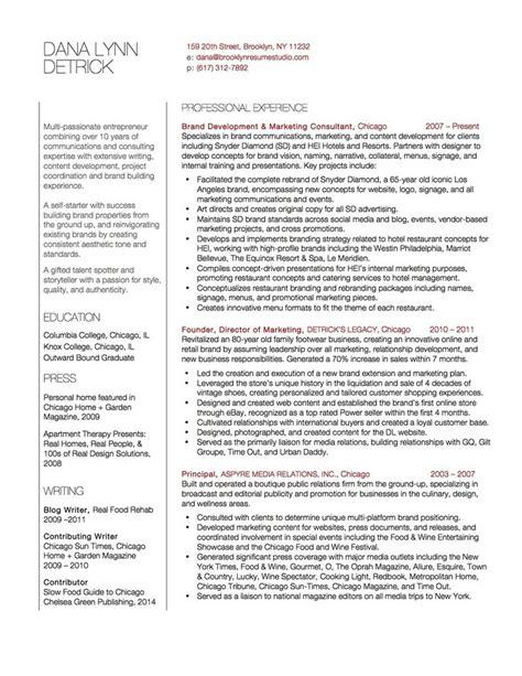 marketing consultant content developer resume