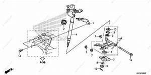 Honda Atv 2015 Oem Parts Diagram For Steering Shaft
