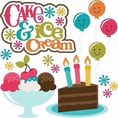 Cake Ice Cream Clipart Birthday Svg Cut