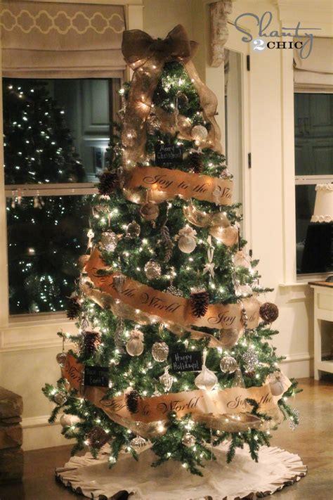 decorating tiny chic tree diy pinecone ornaments my tree shanty 2 chic