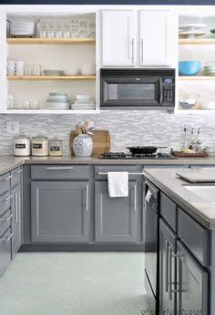 images for kitchen backsplash smoke glass subway tile white shaker cabinets and shaker 4617