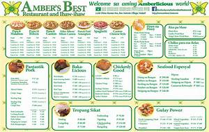 FOOD MENU Ambers Best