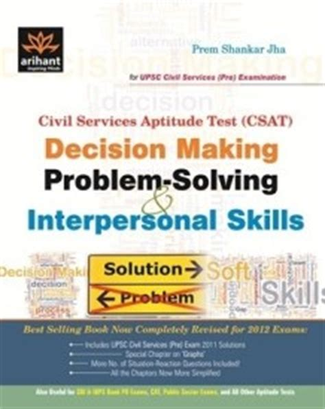 Problem Solving And Decision Skills Resume by Books To Be Referred For Ips Officer