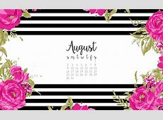 August Calendar Print + Desktop Wallpaper Dawn Nicole