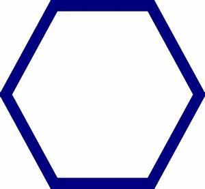 Blue Hexagon Clip Art At Clker Com