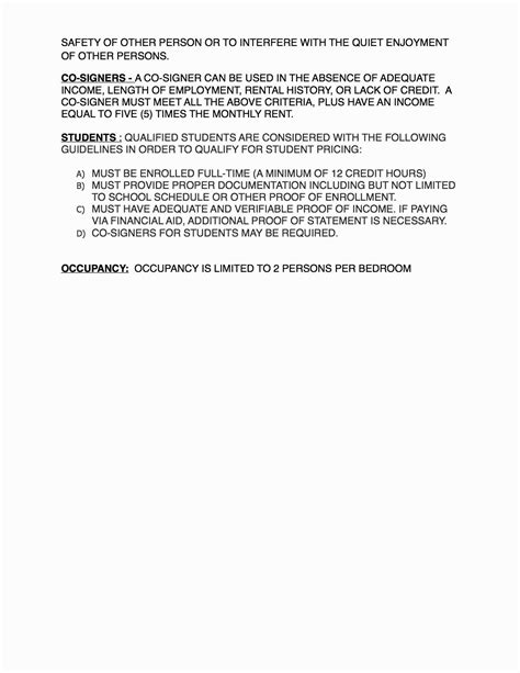Lease Cosigner Agreement