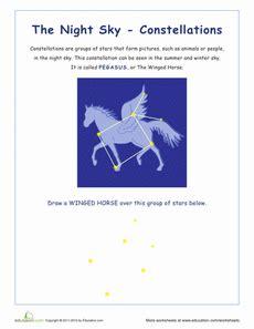 constellation of cygnus worksheet pegasus constellations teaching space planets earth